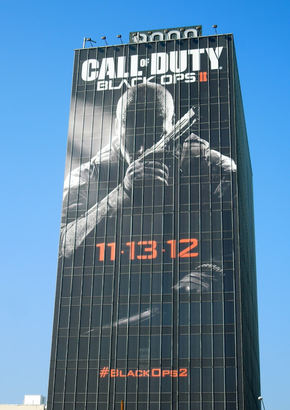 Giant Call of Duty Black Ops II video game billboard