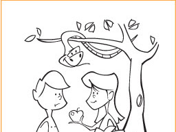 Adam And Eve Bible Coloring Pages For Kids