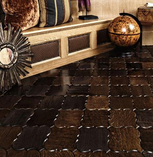 Ornamental Patterns Wood Floor Tiles For Parquet By Jamie Beckwith