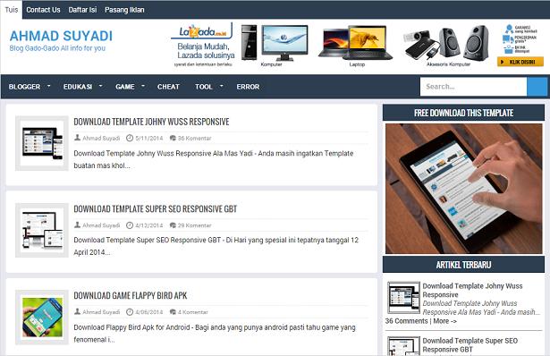 Ahmad Suyadi Responsive Blogger Template