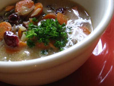 Cranberry Wild Rice Soup
