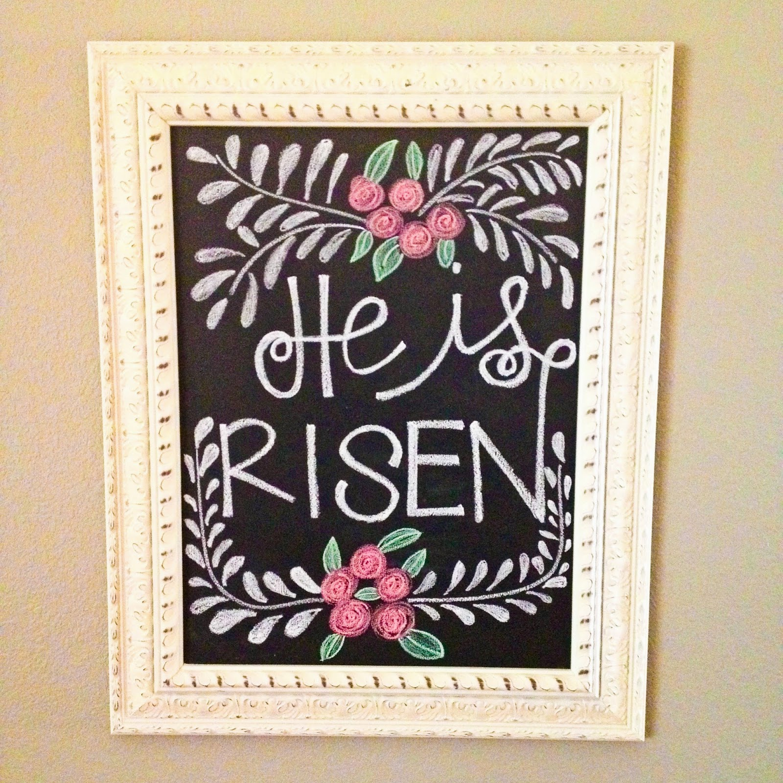 Easter chalkboard | He is Risen