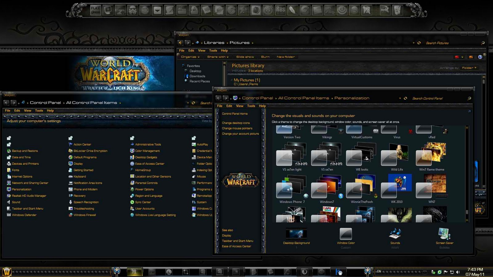 Windows10up.com Download Free Exclusive Pinoy Computer Themes FREE!: Windows Se7en World of Warcraft