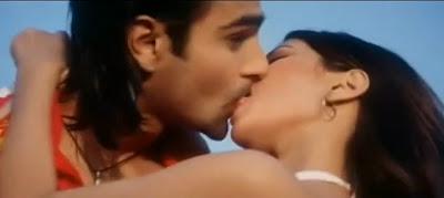 Riya Sen Hot Kiss