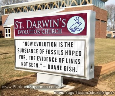 Several examples at the link illustrate that evolution is religious at its core.