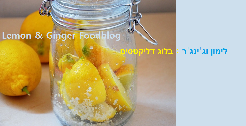 Lemon Ginger:My Hebrew FoodBlog