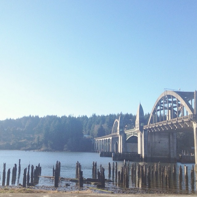 bridge on oregon coast