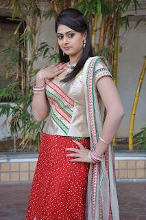 Actress Megha Sree Stills in Anaganaga Oka Chitram Launch Pictures 6.jpg