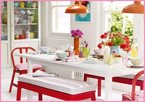 Decoração de Interiores Casa Cadeiras Coloridas  Dando um Up nos