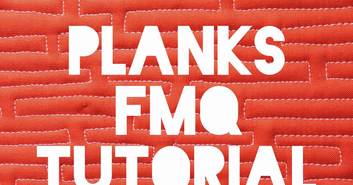 FMQ Weekly: Planks Free-Motion Quilting Design