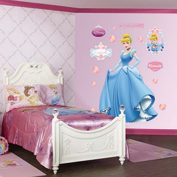 Disney Princess Bedroom Wall Idea