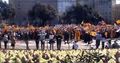 Flashmob per la independència.
