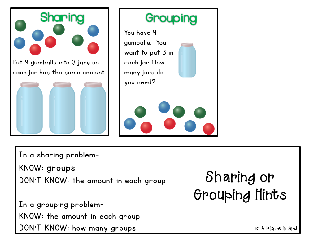 Place in 3rd: Division: Sharing or Grouping