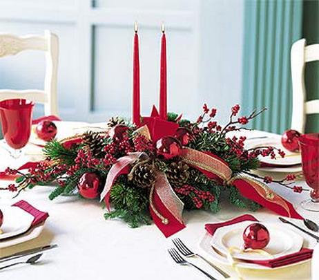 Celebrar la navidad centros de mesa navide os for Centros navidenos