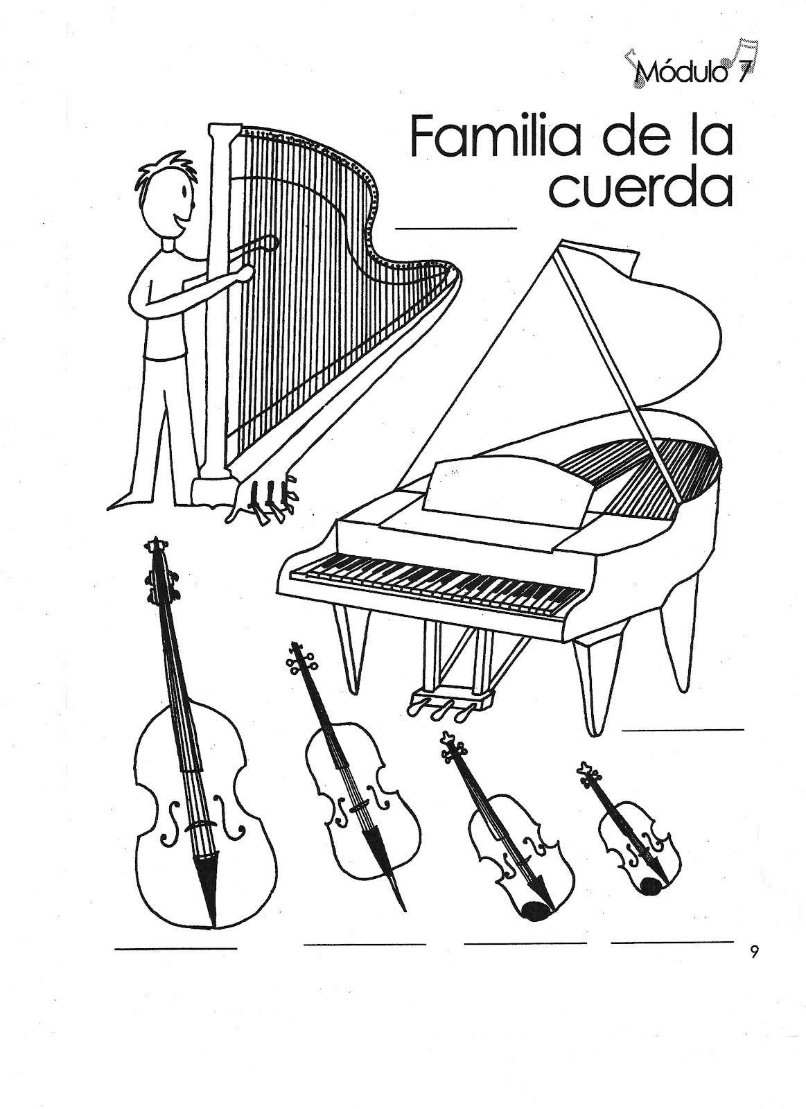 Único Familias De Instrumentos Para Colorear Bandera - Dibujos Para ...