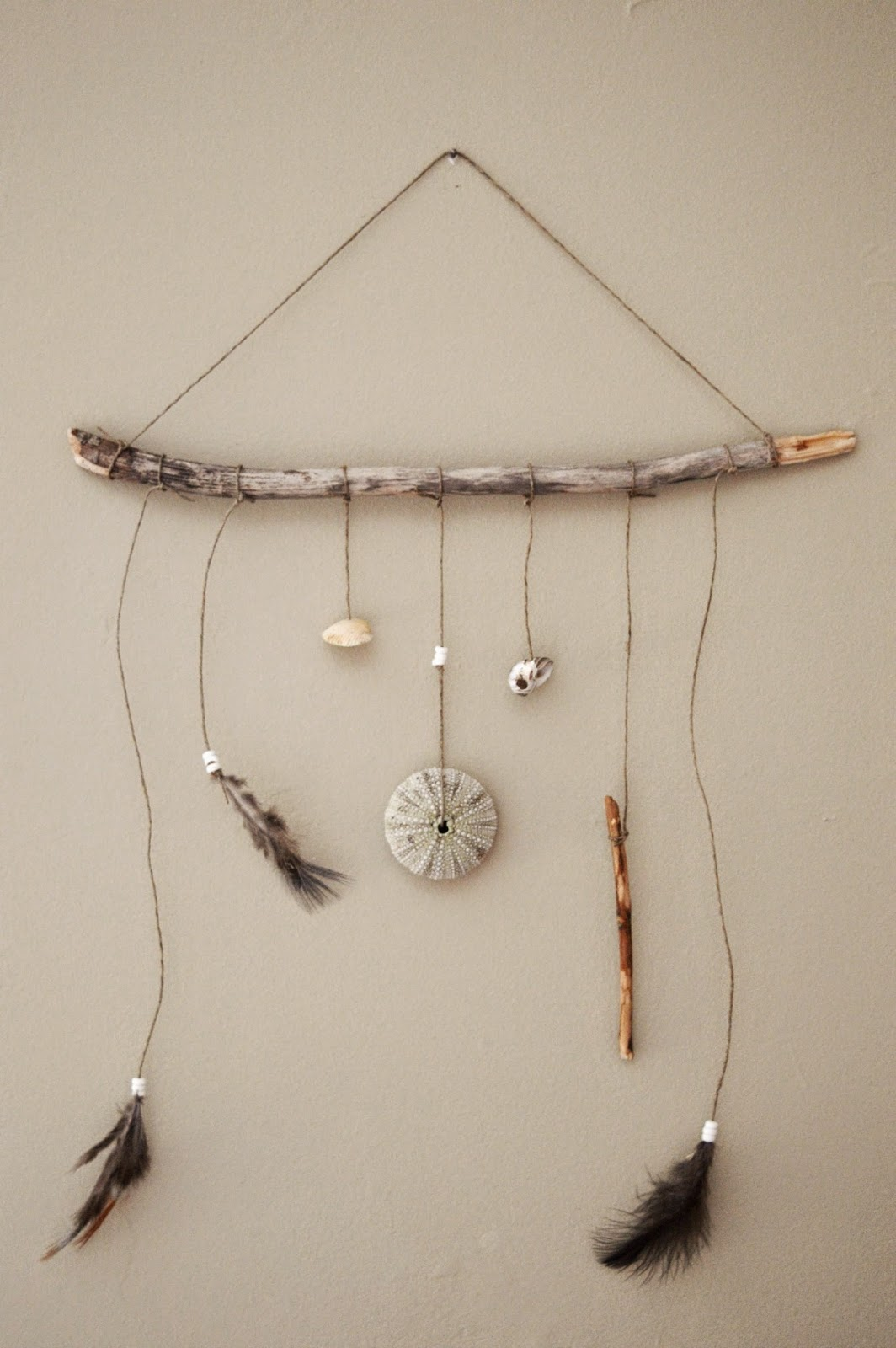 Stick On Wall Art by woods and water: diy hanging stick wall art