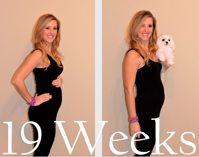 19 weeks pregnant belly - baby bump picture