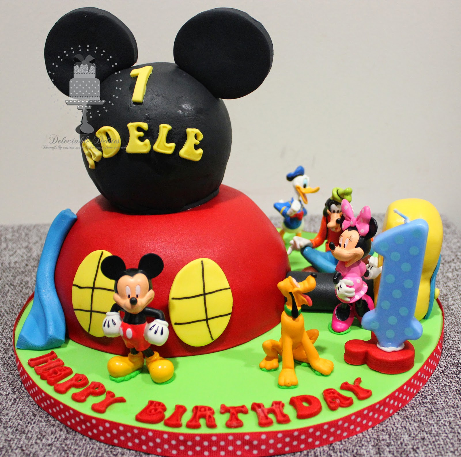 Delectable Delites Mickey Mouse Clubhouse Cake For Adeles 1st Birthday