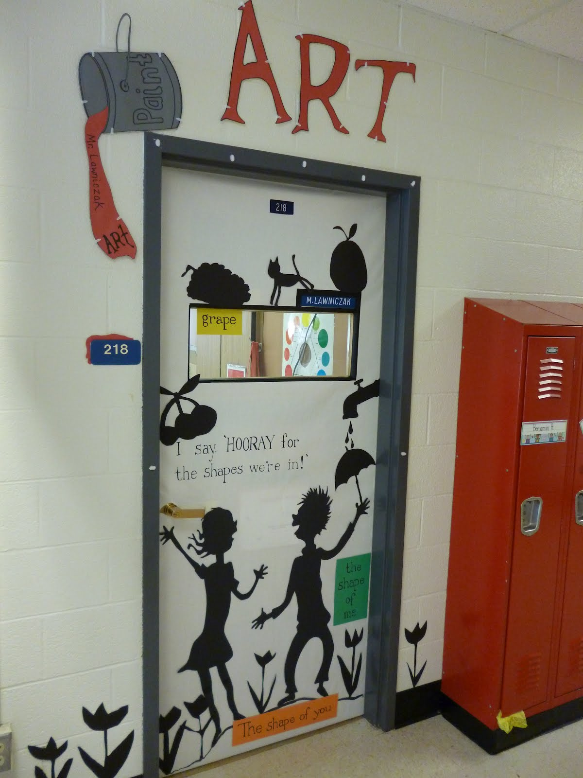 Artistic freedom seuss week door decorating contest