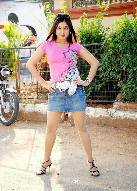 Keerthi Chawla In Mini Skirt