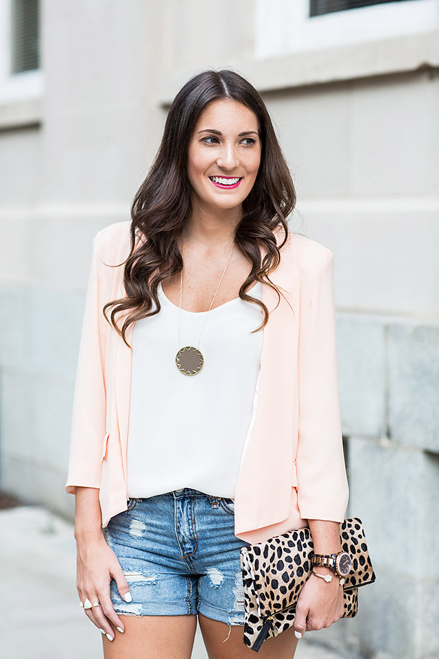 Blush Pink Blazer - House of Style
