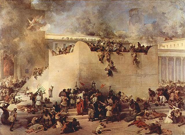 Ilustrasi Penghancuran Bait Suci Yerusalem