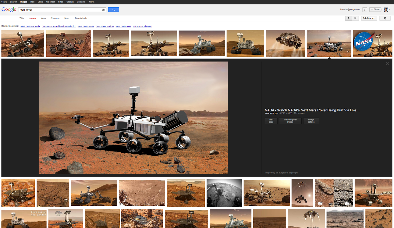 New Google Images interface