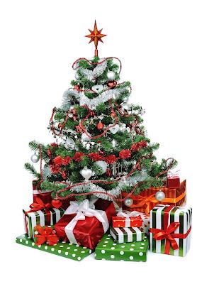 Pinito de Navidad adornado con regalos para Año Nuevo