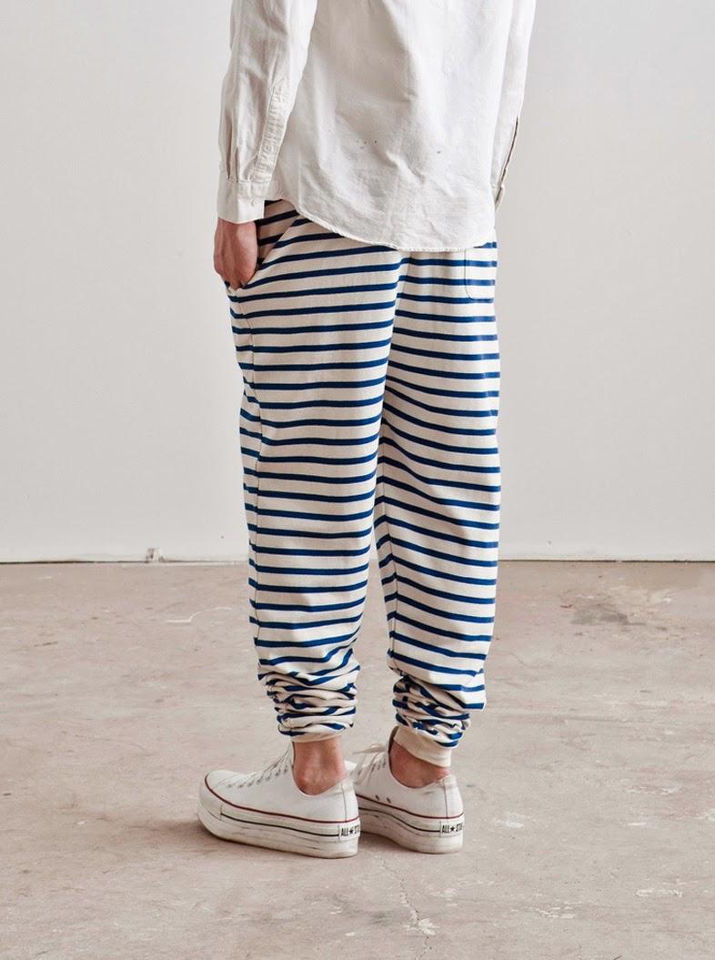 Cotton pants-stripes-