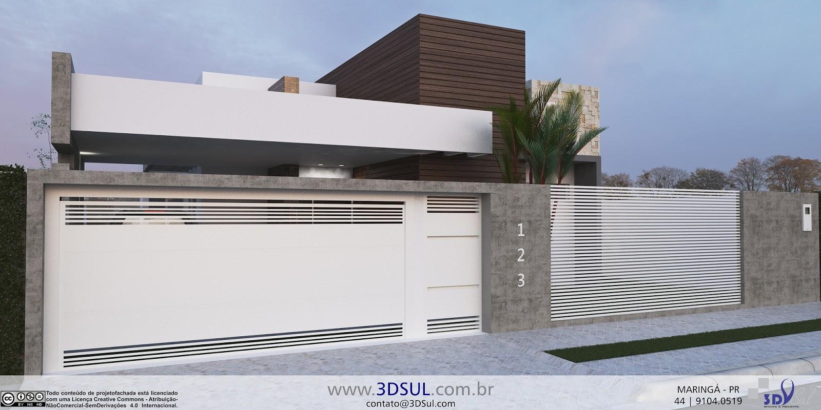 Projeto Arquitetonico 3D Casa Moderna com Piscina #435E88 1600 800