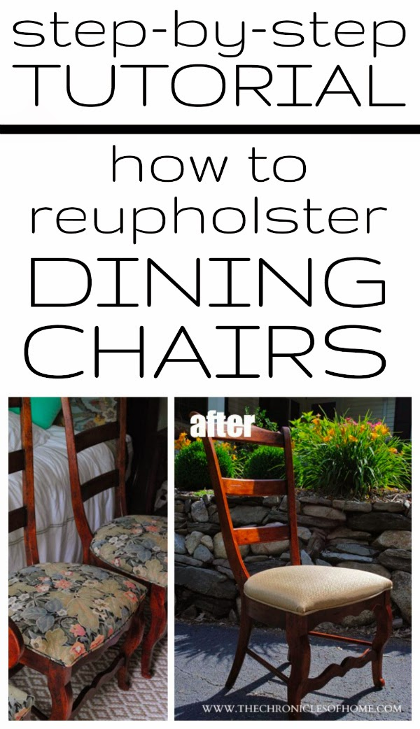 {Tutorial} How To Recover Dining Room Chairs