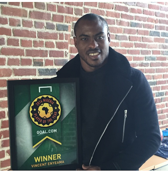 Vincent Enyeama wins goal.com Nigeria player of the year 2014 award