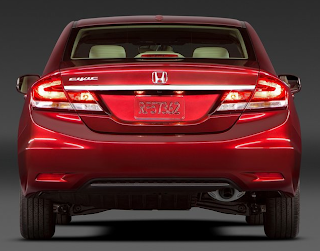 2013 Honda Civic sedan red rear end