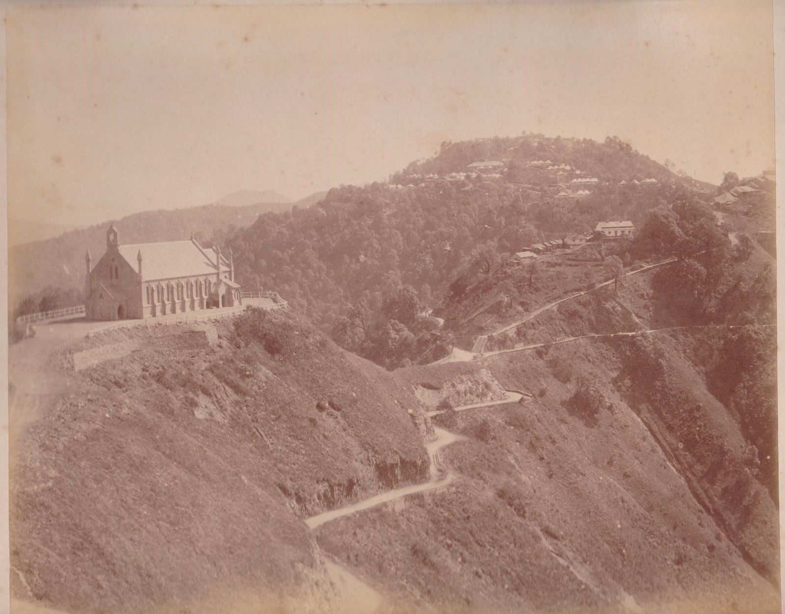 Church on a Mountain - India, c1870's