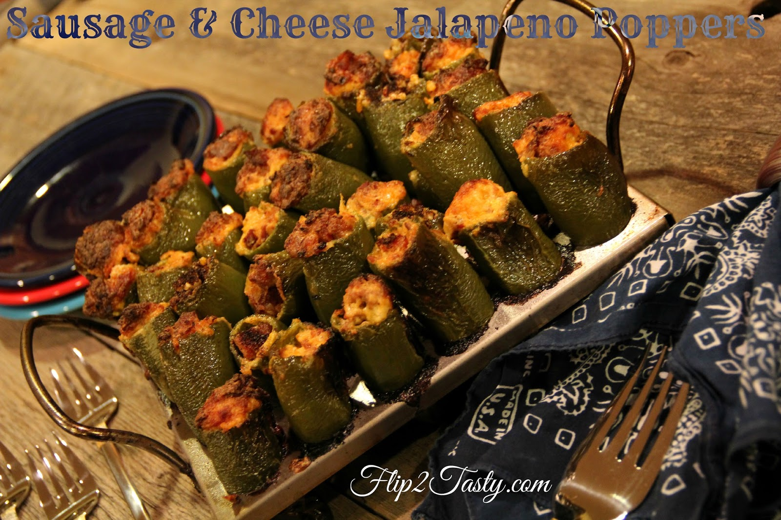 Sausage & Cheese Jalapeno Poppers