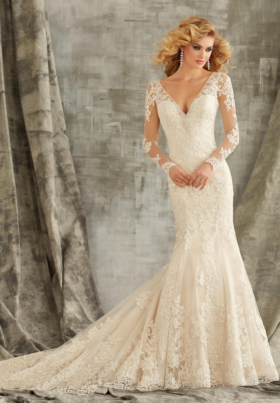 Long Sleeve Mermaid Wedding Dresses in Richmond
