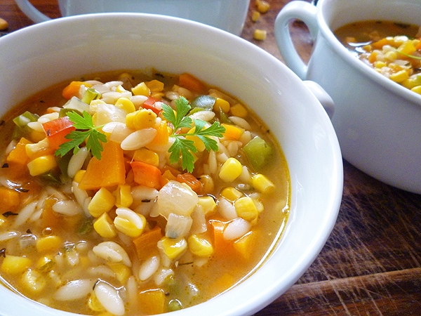 ... from Big Girls Small Kitchen - New York Corn Chowder with Tarragon