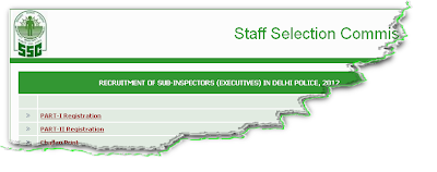 SSC Delhi Police SI Recruitment 2012 Online Form