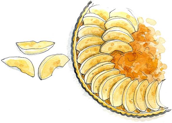 Lise herzog livres de cuisine - Dessin tarte aux pommes ...