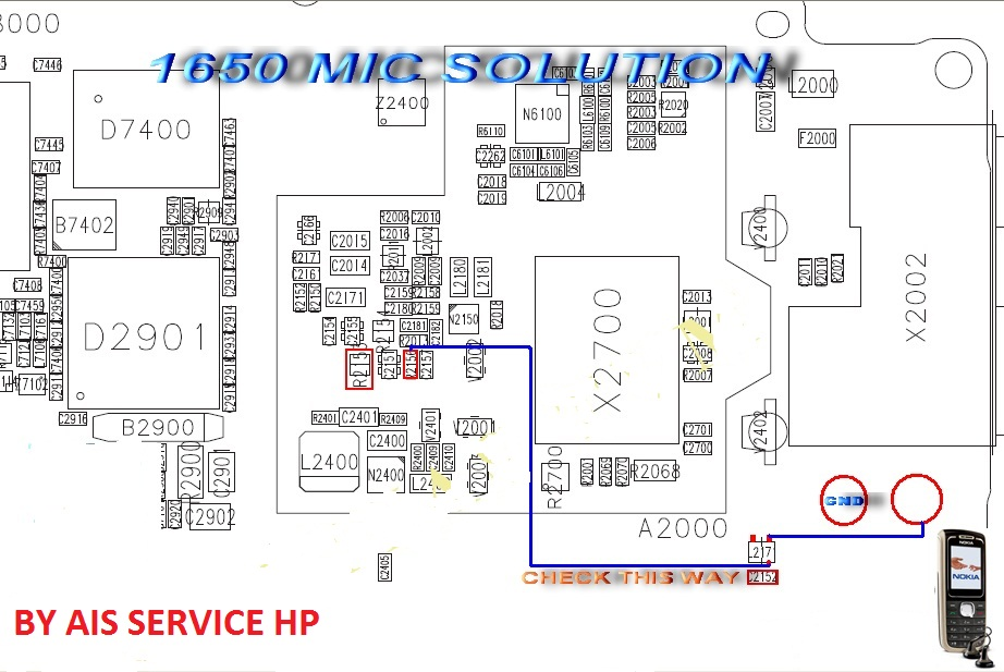 Nokia 1650 Mic Problem Solution