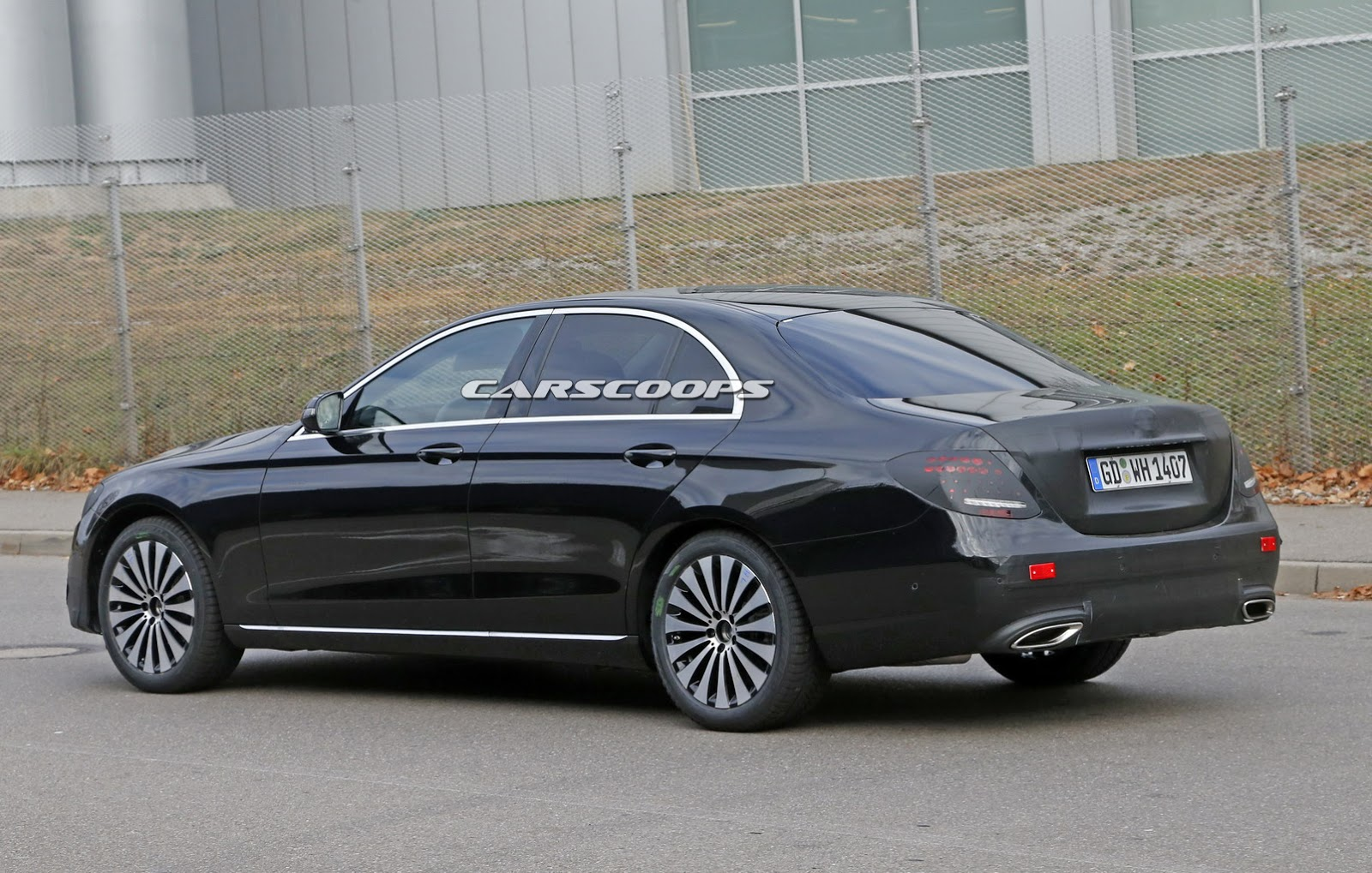 Mercedes Benz E Class Sedan Spied Virtually Undisguised