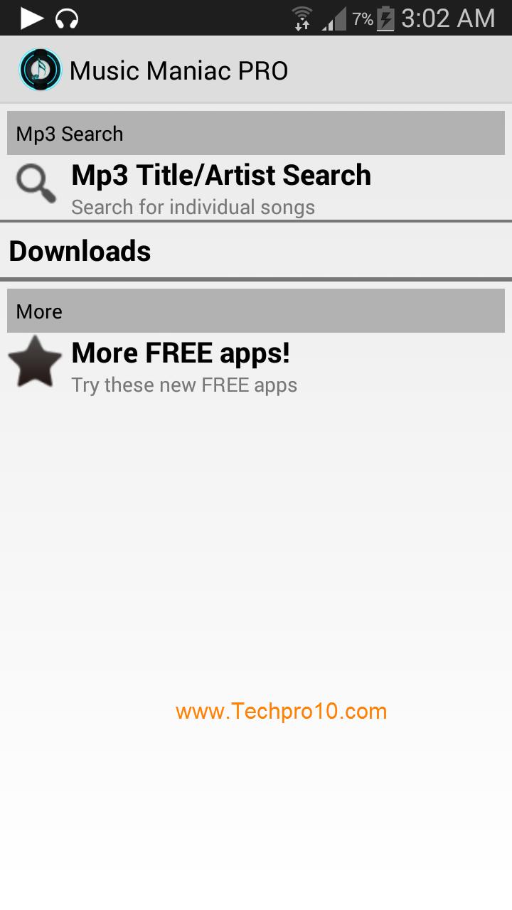حصريا : افضل برنامج اندرويد لتحميل وسماع اغاني ال mp3 الي هاتفك Music Maniac .