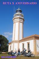 El Club Motorista El Faro organiza una ruta para conmemorar el X aniversario de la fundación del Cl