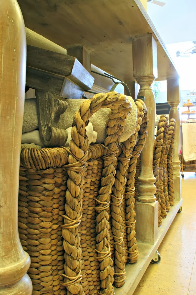 pottery barn beachcomber basket, diy kitchen island, narrow kitchen island, kitchen console, annie sloan stripped paint finish