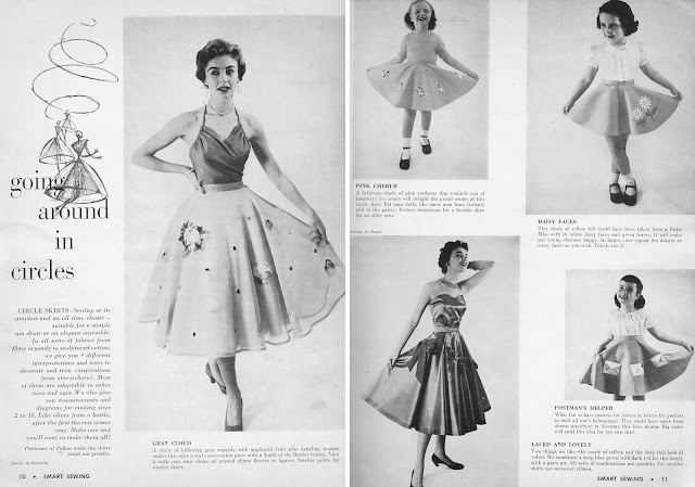1950s circle skirt advertisement Just Peachy, Darling