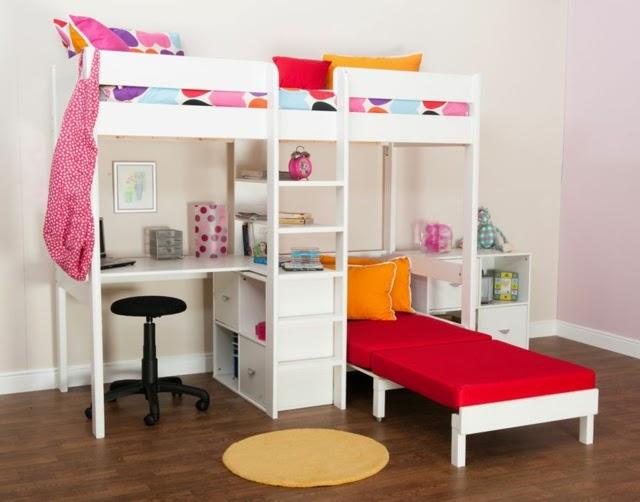 Camas literas para ni as colores en casa for Roperos para cuartos de ninas