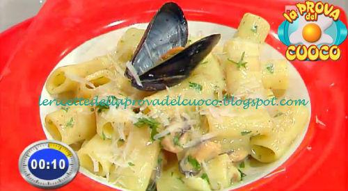 Rigatoni alla carbonara di cozze e pecorino ricetta Scarpa da Prova del Cuoco