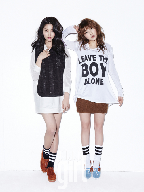 4 4minutes Nam Ji Hyun and Kwon So Hyun in Elle Girl Korea February 2013