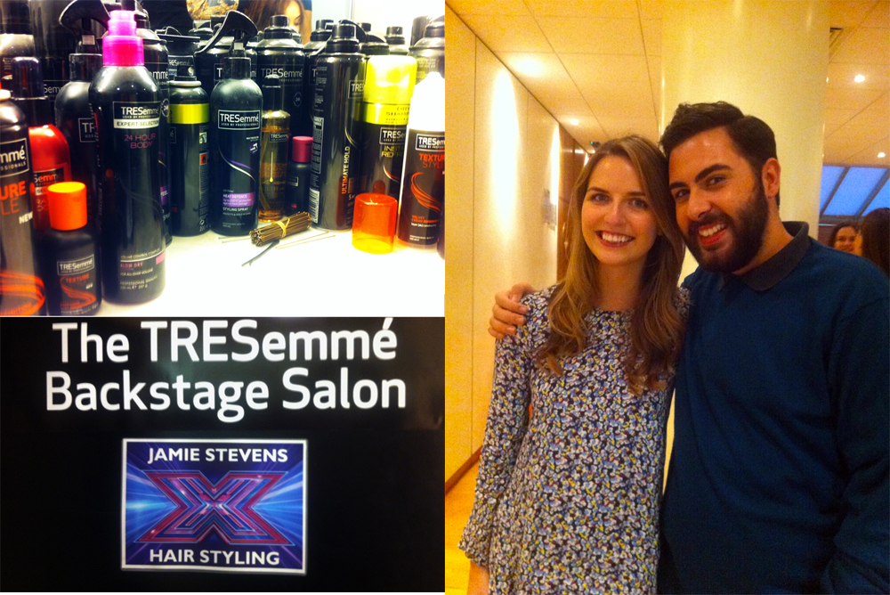Backstage at the X Factor with TRESemme and Andrea Faustini