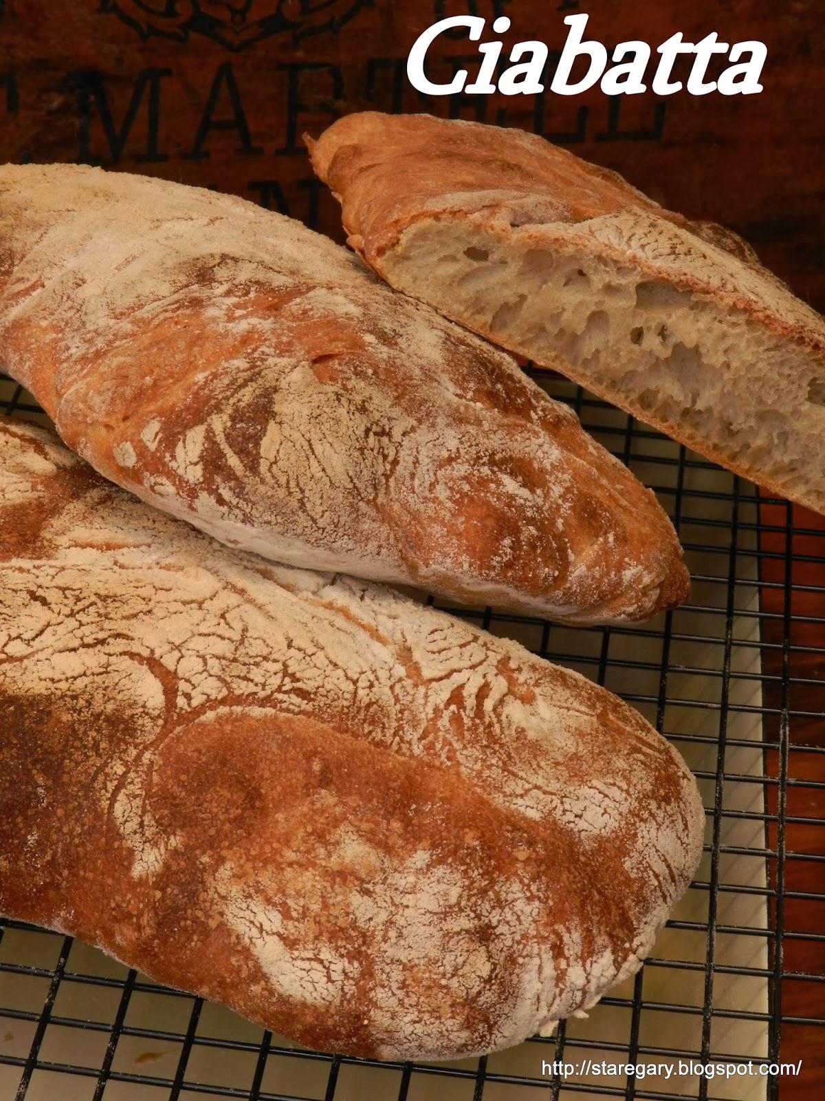 Ciabatta czyli biały włoski chleb